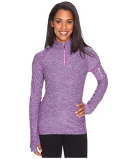 Obermeyer Nora Baselayer Zip Top Violet Vibe Women's Clothing Purple