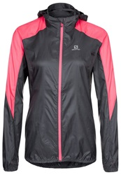 Salomon Fast Wing Sports Jacket Dark Cloud Flou Pink Dark Gray