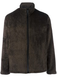 Our Legacy Faux Fur Zipped Jacket Grey