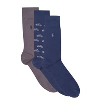 Polo Ralph Lauren Long Socks Pack Of 3 Male Navy