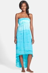 Hard Tail Strapless High Low Dress