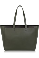 Iris And Ink East West Leather Tote Green