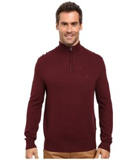 Nautica 9 Gauge 1 4 Zip Sweater Shipwreck Burgundy Men's Sweater