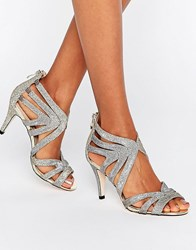 Oasis Cut Out Heeled Sandals Gold