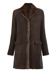 Avant Toi Flap Pocket Coat Brown