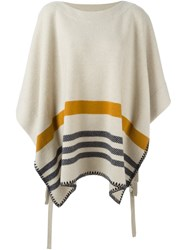 Chloe 'Romance' Striped Poncho Nude And Neutrals