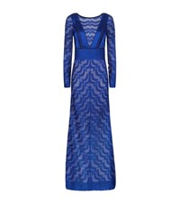 Missoni Open Back Lurex Gown Female Navy