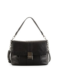 French Connection Izzy Flap Top Messenger Bag Black
