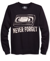 American Rag Men's Graphic Print Sweatshirt Only At Macy's Deep Black