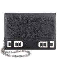 Nine West Gleam Team Crossbody Wallet Black