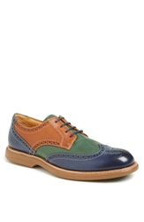 Sperry 'Gold Cup Bellingham' Wingtip Navy Tan Green