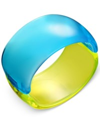 Inc International Concepts Colorblock Acrylic Bangle Bracelet Only At Macy's Blue Yellow