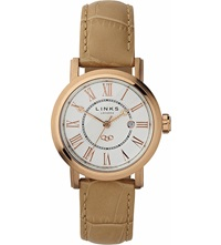 Links Of London Richmond Stainless Steel Rose Gold Plated Watch White