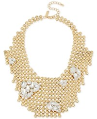 Inc International Concepts Gold Tone Rhinestone Cluster Bubble Bib Necklace Only At Macy's