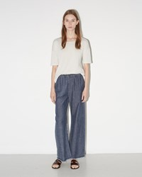 Raquel Allegra Denim Wide Leg Pant Chambray