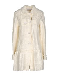 Kristina Ti Coats And Jackets Full Length Jackets Women Ivory