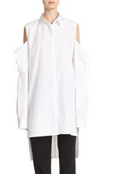 Dkny Women's Cold Shoulder Step Hem Tunic
