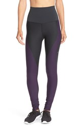 Nike Women's 'Zoned Sculpt' High Waist Compression Dri Fit Tights Black Purple Dynasty Grey