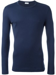 Dolce And Gabbana Underwear Ribbed T Shirt Blue