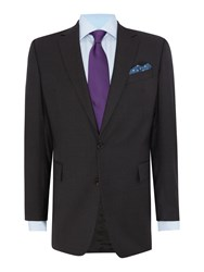 Chester Barrie Plain Weave Notch Collar Tailored Fit Suit Charcoal