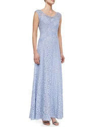 Kay Unger New York Cap Sleeve Lace Gown