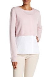 Elie Tahari Lacy Cashmere Sweater Pink