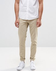 Pull And Bear Pullandbear Stretch Slim Fit Chinos In Beige Beige