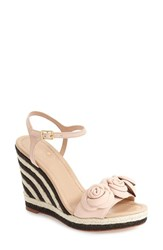Women's Kate Spade New York 'Jill' Espadrille Wedge Sandal Pale Pink Nappa