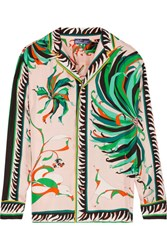 Emilio Pucci Printed Silk Twill Blouse Pastel Pink