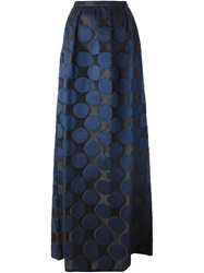 N 21 N.21 Circle Jacquard Long Skirt Blue