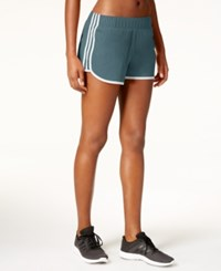 Adidas M10 Climalite Woven Running Shorts Mineral Blue