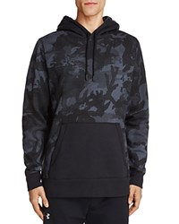 Under Armour Rival Camo Print Hoodie Stealth Gray Black