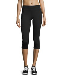 Marika Tek Mesh Panel Performance Capri Leggings Black 001