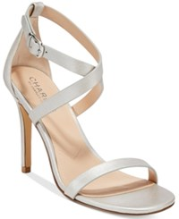 Charles By Charles David Rookie Strappy Dress Sandals Women's Shoes Silver
