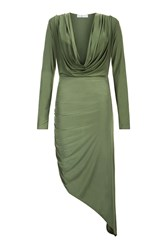 Rare Long Sleeve Cowl Neck Dress By Khaki
