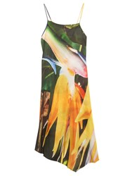 Marques Almeida Contrast Abstract Print Dress