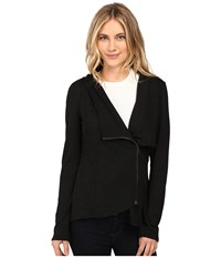 Brigitte Bailey Hacci Asymmetrical Jacket Black Women's Coat