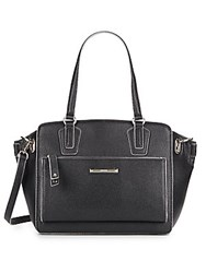 Nine West Zip N Go Pebbled Tote Bag Black