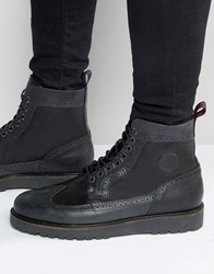 Fred Perry Northgate Leather Boots Black