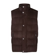 Michael Kors Down Suede Gilet Male Brown