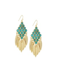 Lydell Nyc Chandelier Drop Earrings W Cabochons Turquoise