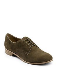 G.H. Bass Ella Suede Oxfords Olive Green