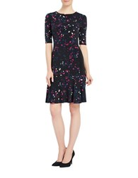 Ellen Tracy Printed Roundneck Dress Reflection