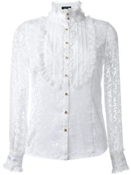 Loveless Lace Bib Blouse White