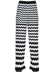 M Missoni Cotton Viscose Zig Zag Knit Pants