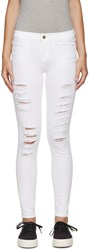 Frame Denim White Distressed Le Color Jeans
