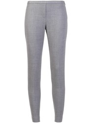 Elie Tahari Slim Fit Trousers Grey