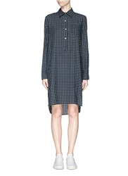 Etoile Isabel Marant 'Rane' Check Flannel Shirt Dress Grey