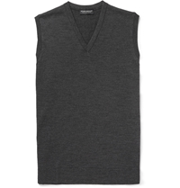 John Smedley Turner Fine Knit Merino Wool Sleeveless Sweater Unknown