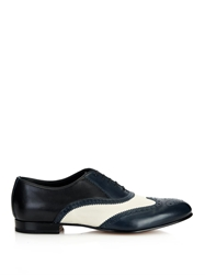 Sergio Rossi Bi Colour Leather Brogues